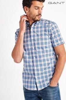 GANT Tech Prep Broadcloth Multi Check Short Sleeve Shirt