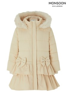 Monsoon Baby Champagne Cara Padded Coat