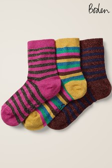 Boden Multi Three Pack Sparkle Socks