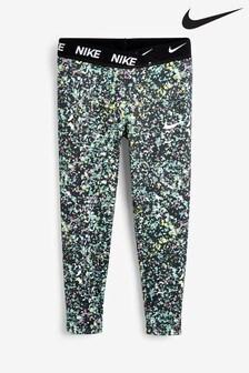 Nike Little Kids Turquoise Print JDI. Dri-FIT Regrind Leggings