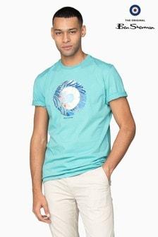 Ben Sherman Main Line Blue Tropical Target T-Shirt