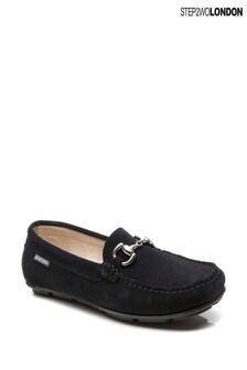 Step2wo Blue Charlie Horsebit Loafers