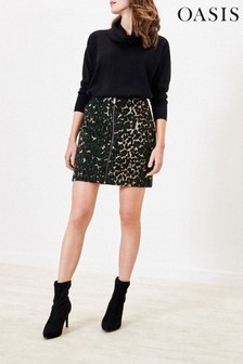 Oasis Green Pebble Animal Skirt