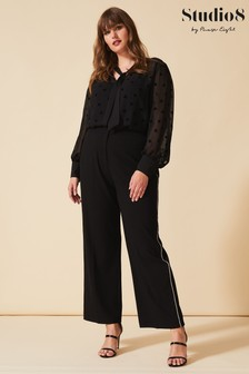 Studio 8 Black Krista Diamanté Trousers