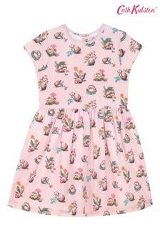 Cath Kidston Pink Kids Mini Garden Club Cap Sleeve Dress