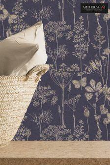 Arthouse Purple Meadow Floral Wallpaper