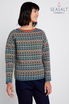 Seasalt Blue Bountiful Jumper