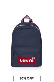 Kids Blue Batwing Logo Backpack