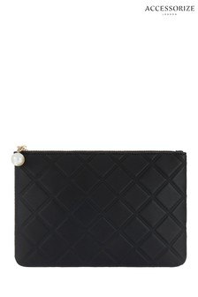 Accessorize Black Quilted Pouch