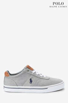 Polo Ralph Lauren Washed Grey Hanford Trainers