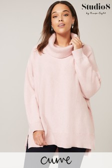 Studio 8 Pale Pink Palmer Cowl Neck Jumper