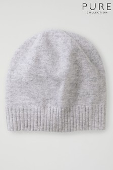 Pure Collection Grey Cashmere Hat