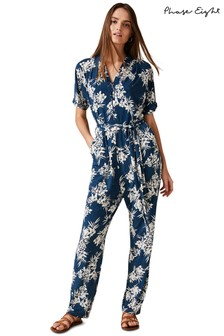 Phase Eight Green Clancy Palm Print Jumpsuit