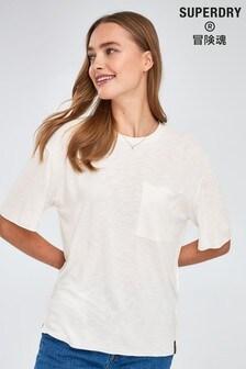 Superdry Ecru Pocket T-Shirt