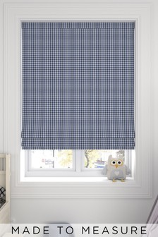 Melrose Navy Blue Made To Measure Roman Blind
