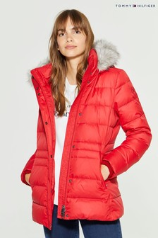 Tommy Hilfiger Red New Tyra Down Jacket