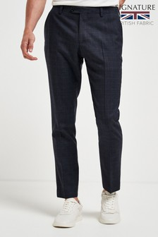 Empire Mills Signature Check Suit: Trousers