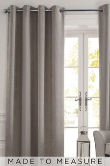 Made To Measure Dove Soft Velour Curtains