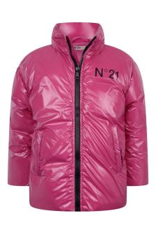 Girls Fuxia Padded Jacket