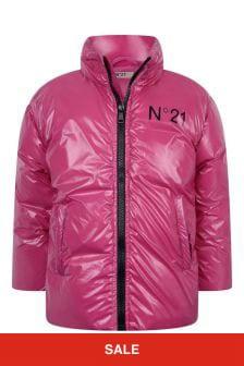 N°21 Girls Fuchsia Padded Jacket