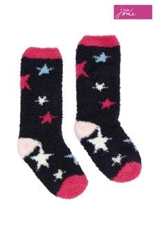 Joules Blue Fab Fluffy Fluffy Socks