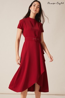 Phase Eight Red Mylee Belted Dress