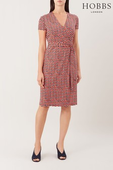 Hobbs Red Delilah Wrap Dress