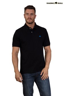 Raging Bull Black New Signature Polo