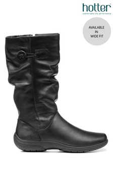 Hotter Derrymore Wide Fit Zip Fastening Calf Boots