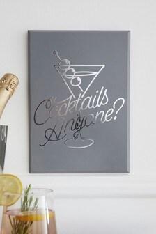 Cocktails Anyone Plaque