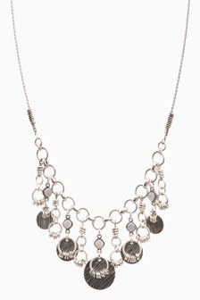 Casual Metal Short Statement Necklace