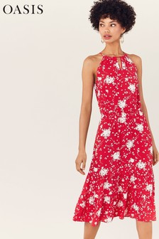 Oasis Red Amalfi Floral Print Dress