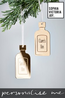 Personalised Gin Bottle Decoration by Sophia Victoria Joy
