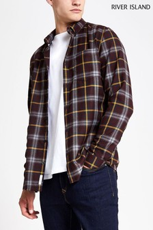 River Island Berry Check Shirt