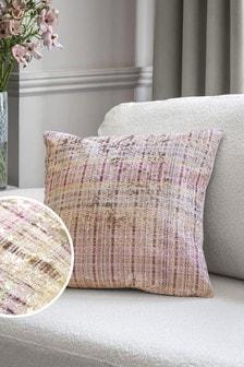 Pink Velvet Check Cushion