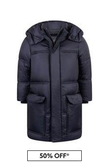 Emporio Armani Boys Navy Padded Coat