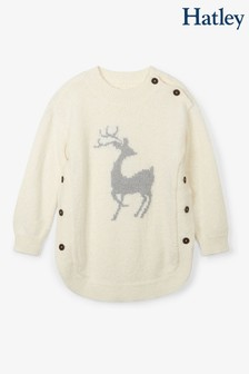 Hatley Natural Mistletoe Deer Sweater