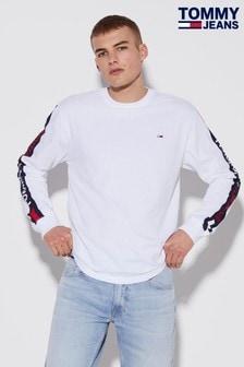 Tommy Hilfiger Langarm-T-Shirt mit Logostreifen