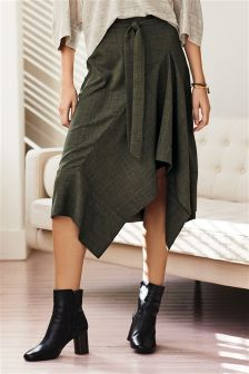 Crosshatch Belted Skirt