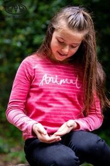 Animal Slate Weiches, langärmeliges Shirt, Pink
