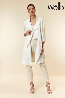 Wallis Ivory Waterfall Duster Jacket