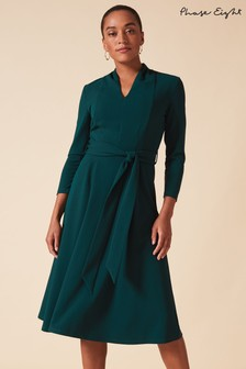 Phase Eight Green Maretta Pleat Dress