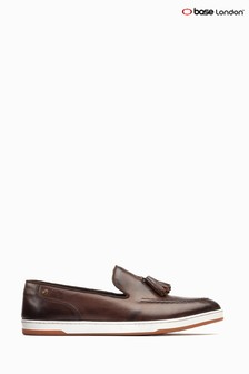 Base London® Brown Pogo Burnished Slip-On Loafers