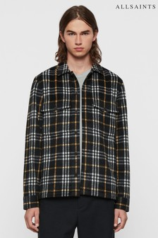 AllSaints Black Berthold Long Sleeve Shirt