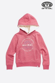 Animal Slate Rose Pink Running Free Hoody