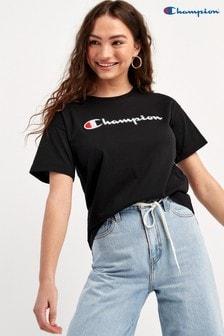 Champion Large Script Logo Crew Neck T-Shirt
