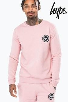 Hype. Pink Crest Crew Neck Jumper