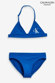 Calvin Klein Blue CK One Triangle Bikini Set