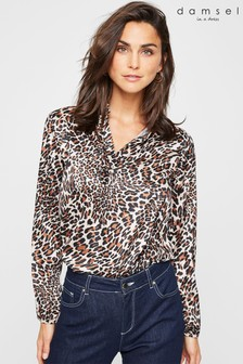 Damsel In A Dress Neutral Leopard Aimee Blouse