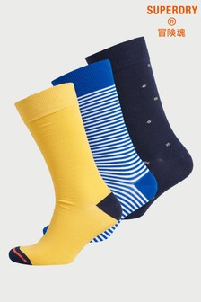 Superdry Organic Cotton City Socks Three Pack